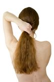 задние волосы пачки длиной Стоковые Изображения