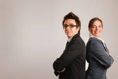 задние деловые партнеры к Стоковые Фото