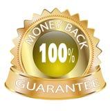 задние деньги иконы гарантии 100 Стоковые Изображения RF