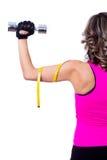 задние красивейшие делая детеныши женщины пригодности тренировки Стоковая Фотография