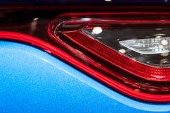 Задние света автомобиля спорт стоковые изображения