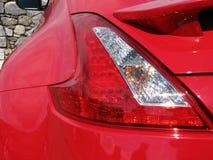 задний автомобиль освещает красный цвет стоковое фото