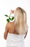 задний белокурый цветок Стоковые Фотографии RF
