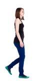 Задний взгляд гуляя женщины. Стоковое Изображение RF