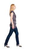 Задний взгляд гуляя женщины. Стоковая Фотография