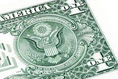 задний доллар одно счета Штабелированное фото макроса Стоковая Фотография