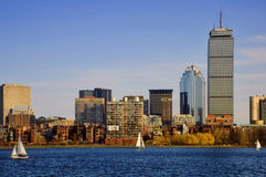 задний залив boston Стоковое Изображение