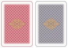 задний играть карточек Стоковое фото RF