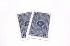 задний играть карточки Стоковая Фотография RF