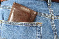 задний карманный бумажник Стоковое Изображение