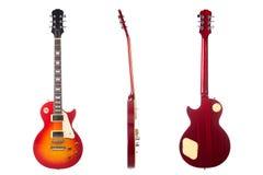 задний красивейший электрический передний sunburst стороны гитары Стоковая Фотография RF