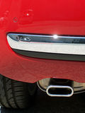 задний красный цвет автомобиля Стоковое фото RF
