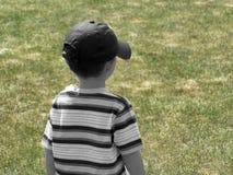 задний мальчик стоковая фотография rf