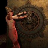 задний поворот времени steampunk Стоковое Фото