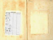 задний сбор винограда архива книги Стоковые Фото