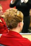 задний стиль причёсок Стоковая Фотография