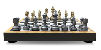 задний шахмат доски Стоковые Фото