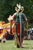 задний powwow обмундирований meskwaki Стоковая Фотография