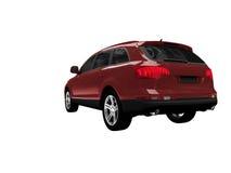 задним взгляд изолированный автомобилем красный Стоковые Изображения