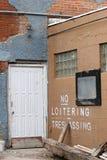 задняя дверь Стоковое Фото