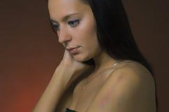 задняя женщина синяка Стоковое Изображение RF