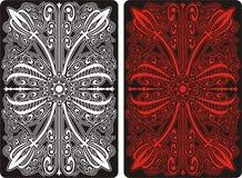 задняя картина орнамента карточки играя сторону Стоковые Изображения RF