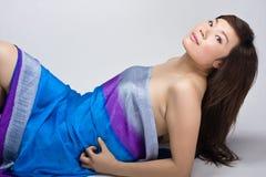 задняя китайская сексуальная женщина Стоковое Изображение RF
