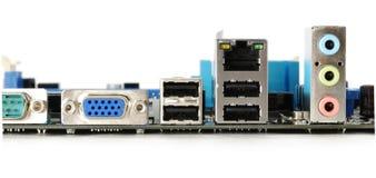 задняя панель motheboard компьютера Стоковая Фотография RF