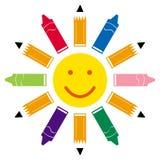задняя солнечность школы к Стоковая Фотография