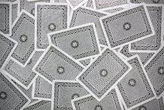 задняя сторона играть карточки Стоковое Изображение RF