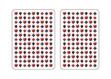 Задняя сторона играя карточки иллюстрация штока