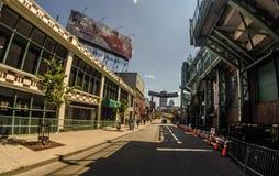 Задняя сторона исторического Fenway Park, Бостона, МАМ Стоковая Фотография RF