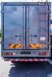 Задняя сторона контейнера металла современной тележки стандартного Стоковые Изображения