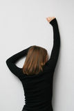 задняя стоящая женщина Стоковая Фотография