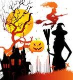 задняя темнота haloween иллюстрация штока