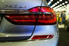Задняя фара взгляда BMW 740 Ld G11G12 7 серий Детали экстерьера автомобиля Стоковые Изображения