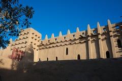 Задняя часть большой мечети Djenne, Мали. Стоковое Изображение