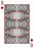 Задняя часть играя карточки конструирует с monochrome флористическим калейдоскопом иллюстрация штока