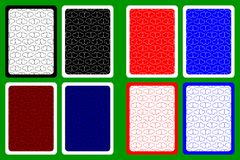Задняя часть играя карточки Стоковое Изображение