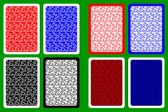 Задняя часть играя карточки Стоковые Фото
