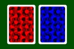 Задняя часть играя карточки Стоковая Фотография RF