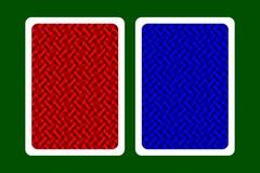 Задняя часть играя карточки Стоковое фото RF