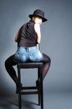 Задняя часть красивейшей сексуальная белокурой женщины Стоковая Фотография RF