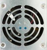 Задняя часть крупного плана электропитания ПК с вентилятором Стоковое Фото