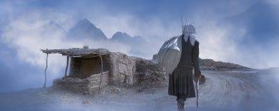 Задняя часть таджикской женщины стоковые фото