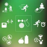 Задняя часть фитнеса спорта Стоковые Фото