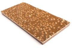 Задняя часть шоколадного батончика на белой предпосылке Стоковые Изображения