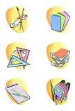 задняя школа икон к иллюстрация вектора