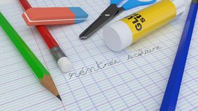 задняя школа к Стоковые Фото