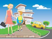 задняя школа к Стоковое Фото